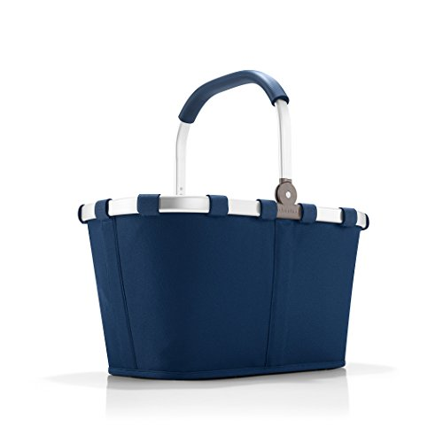 reisenthel Carrybag Fabric Picnic Tote, Sturdy Lightweight Basket for Shopping and Storage, Dark Blue