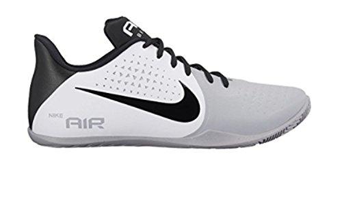 Nike Heren Lucht Ziet Lage Basketbalschoen Wit / Zwart-wolf Grijs