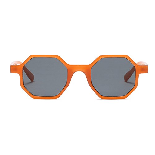 Mod Irregular Fashion Inlefen style Naranja Sunglasses Glasses Polygonal Frame Womens Entera design gppaqH