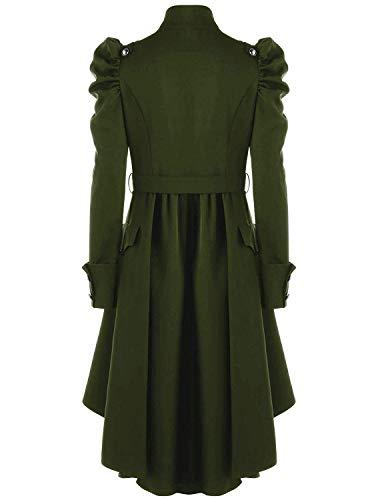 Style BoBoLily Grn Noble Coat Asymmetric Loisir Machaon Trench Classic Outerwear Punk Gothique Fashion Hiver Manteau Femme Vintage Spcial Printemps qW7PUrnq