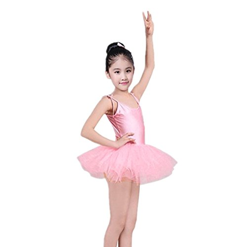 932050ede Girls Kids Spaghetti Camisole Ballet Leotard Tutu Dress Ballerina ...