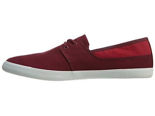 Lacoste Mens Marice Dentelle Fpm Sneakers En Rouge Foncé 9,5 M Us