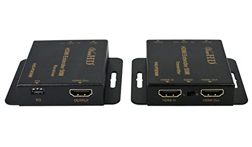 - ViewHD Advanced Low Profile HDMI Extender Over 50M / 164ft Single Ethernet Cable with Local Loop | IR Extender | Power Over Ethernet POE Features | Model: VHD-POE50M