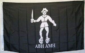 LuxMart 3x5 Jolly Roger Pirate Bartholomew Roberts ABH AMH Black Bart Flag 3'x5' Banner
