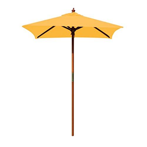 (Above All Advertising, Inc. 4' Brolliz Square Umbrella, Wood (Yellow))