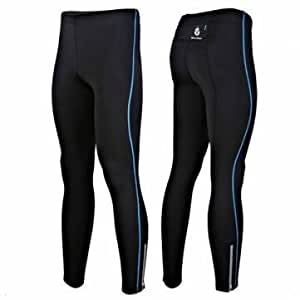 1 Pc - Winter Cycling Bicycle Bike Windproof Elastic Thermal Trousers (Color: Blue - XXL)