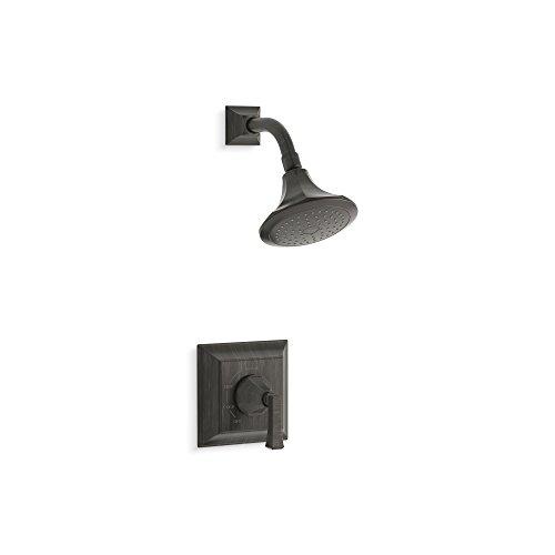 Kohler TS462-4V-2BZ Memoirs Series Deco Lever Handle and 2.5 gpm showerhead,Stately Rite-Temp Shower Valve Trim Oil Rubbed Bronze