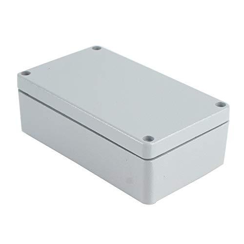 Blanco 120x80x55mm Caja a prueba de agua de aluminio fundido a presi/ón IP66 Caja de conexiones de pl/ástico a prueba de agua Caja de instrumentos electr/ónicos Caja para caja