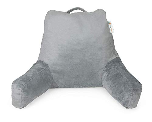 gray upright pillow - 1