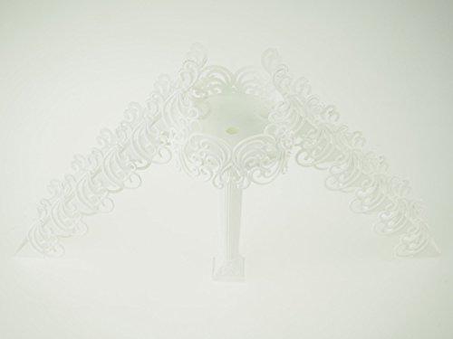 rackcrafts M Plastic Cake Stairs Platform TableCenterpiece Decor Wedding Bridal Baby Shower (White)