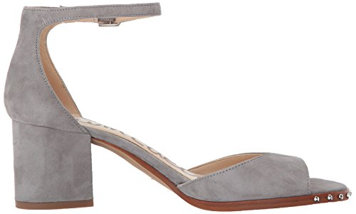 Sam Edelman Women's Susie 3 Heeled Sandal Grey Frost Suede wiki sale online big discount for sale cheap 100% original KFKR1xU