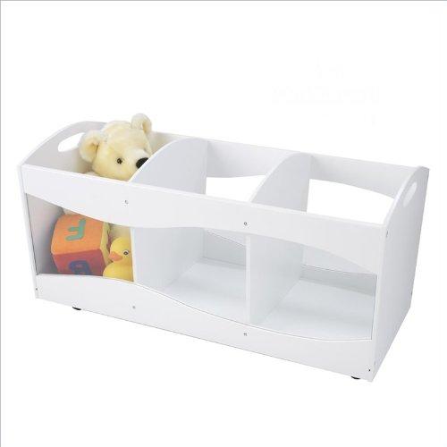 KidKraft See Thru Bins-White (See Thru Bins Toy Box)