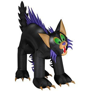 HALLOWEEN DECORATION LAWN YARD INFLATABLE AIRBLOWN ANIMATED BRAT BLACK CAT 10' TALL ()