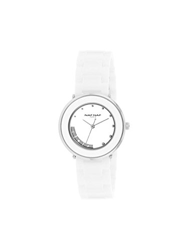Reloj NAF NAF RD B/Ceramic pedrería fantasía - n10714 - 201: Amazon.es: Relojes