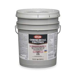 krylon-k31130404-20-latex-flat-enamel-white-5-gallons-krylon-commercial-coatings-interior-exterior-p