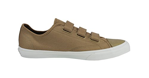 Vans Chaussures Femme Issue Tan Beige / Off Blanc Velcro Strap Sneakers