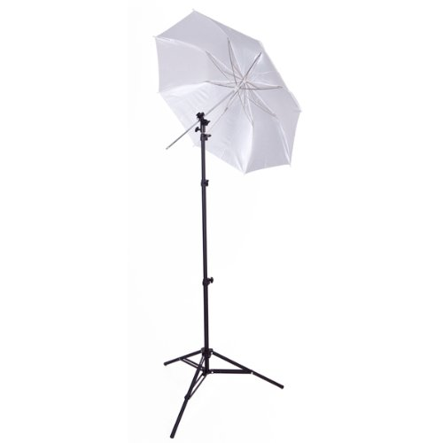 Westcott 2332 43-Inch Collapsible Umbrella Flash Kit (Black/White) (Flash Shoe Umbrella Kit)