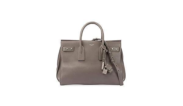 dc79ab7a9 Saint Laurent Medium Sac de Jour Tote Bag (Light Gray): Handbags: Amazon.com
