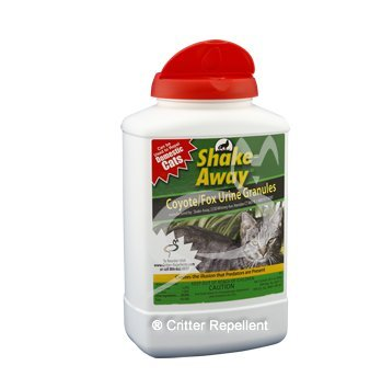 Shake-Away All Natural Cat Repellent for Domestic Cats 28.5 oz size - New EZPour Bottle & Cap (Domestic Cat Repellent)