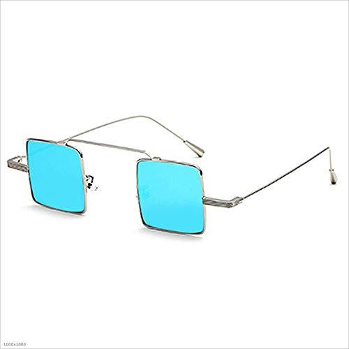 carrées à Silver Bleu Joo Petites Soleil Couleur de lentilles Lunettes pour Femmes fvIvwqPYn