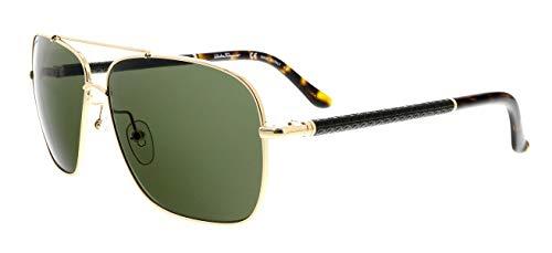 (SALVATORE FERRAGAMO Sunglasses SF145SL 717 Shiny Gold 59MM)