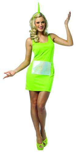 Adult Teletubby Costumes (Rasta Imposta Teletubbies Dipsy Tank Dress, Green, Adult 4-10)