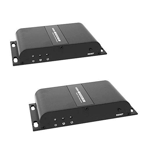 J-Tech Digital  HDbitT Series 1080P Fiber Extender HDMI Extender over Optic Optical Fiber with IR Support DTS-HD/Dolby-true HD/LPCM7.1/DTS/Dolby-AC3/DSD Transmitter and Receiver- Up to 12.4 Miles