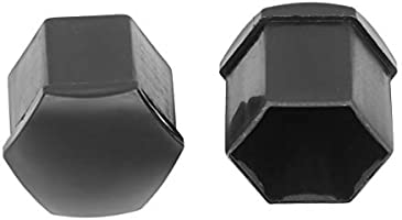 20x 21mm Black Color Nylon Car Wheel Nut Cover Lug Dust Bolt Cap Hub Screw HTYU