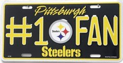 Pittsburgh Steelers Number One Fan License (1 Fan Sign)