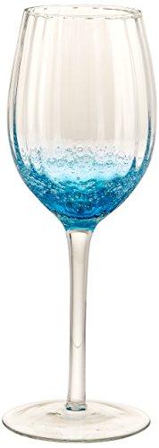 Abbott Collection Optic Bubble White Wine Glass, Blue