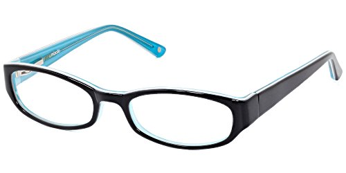 Prescription Glasses Frames For Women [by Umizato], Fashion Designer Eyeglasses, Optical Rx-able, Lentes, FDA Approved, Hand-Polished Acetate, Case Included (Alexandria in Black Teal)