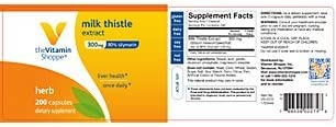 the Vitamin Shoppe – Milk Thistle Extract, 300 mg, 200 capsules