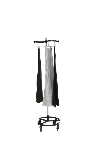 Quality Fabricators Single Rail Personal Valet Rolling Rack - Black [Health and Beauty]