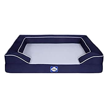 Image of Home and Kitchen Sealy Lux Quad Layer Orthopedic Dog Bed with Cooling Gel