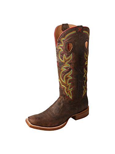 - Twisted X Mens Buckaroo 16-Inch SS Toe Pull-On Boots - Rugged Brown/Rugged Brown