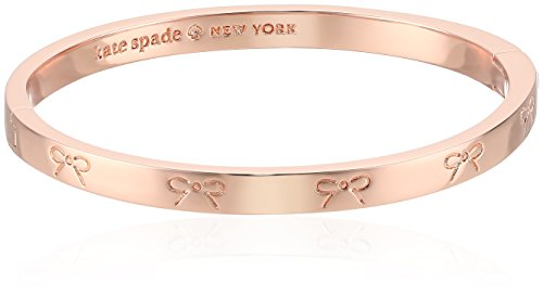 kate spade new york Heavy Metals Engraved Bow Rose Gold Bangle - Spade Kate Rose