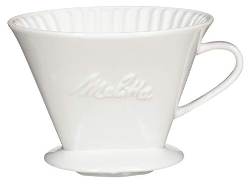Melitta Number 4 Porcelain Pour Over Coffee Brewing Cone