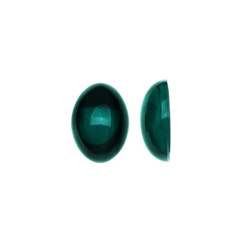 (Beadaholique Vintage Lucite Plastic Oval Domed Cabochon - Emerald Green/Foiled 8x10mm (20))