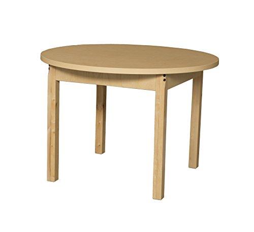 Round High Pressure Laminate - Wood Designs HPL36RND22 - Round High Pressure Laminate Table with Hardwood Legs, 22