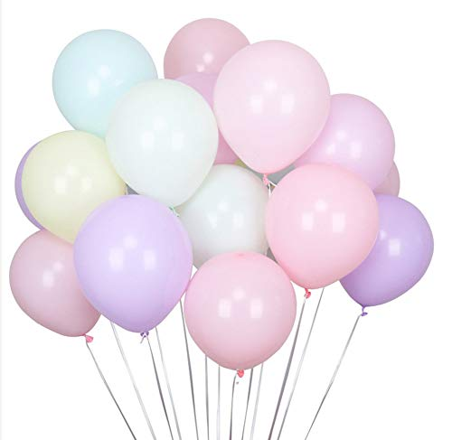100pcs Pastel Latex Balloons 12 Inches Assorted Rainbow Candy Colored Party Balloons for Girls Wedding Birthday Party Baby Shower Party -