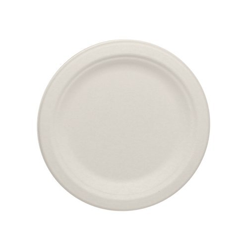 Durable-Eco-Friendly-6-Bagasse-Plates-Pack-of-Round-White-Plates-Microwave-Safe-Compostable-Made-from-Sugercane-Fibers-Count