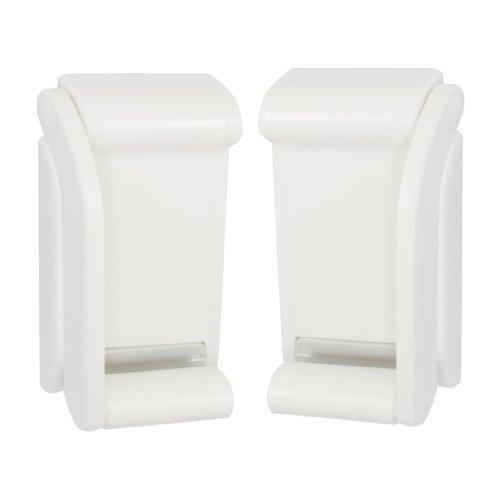 Plastic Adjustable Magnet Toilet Paper Tissue Holder Bracket White