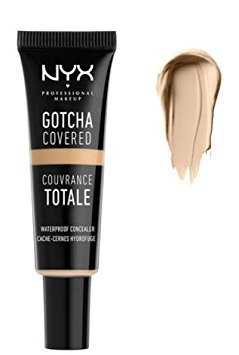 NYX Professional Makeup Gotcha Covered Concealer, Natural, 0.27 Fluid Ounce