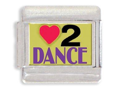 Love To Dance Italian Charm Bracelet Link