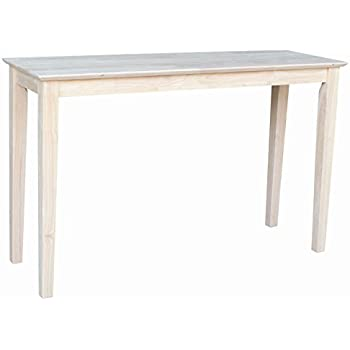 International Concepts OT 9S Shaker Sofa Table, Unfinished