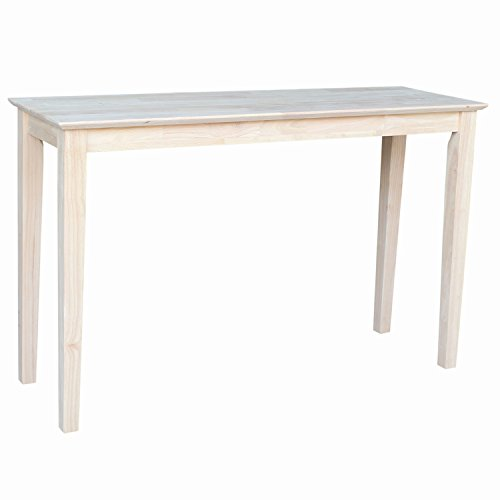 International Concepts OT 9S Shaker Sofa Table  Unfinished. Unfinished Wood Table  Amazon com