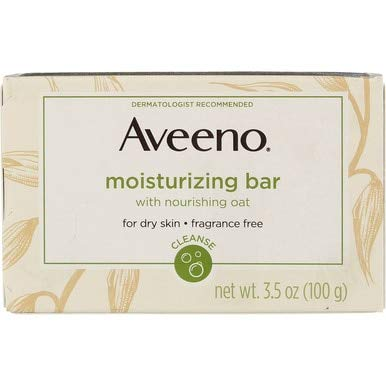 - Aveeno Moisturizing Bar with Natural Colloidal Oatmeal for Dry Skin, Fragrance Free, 3.5 Oz (2 Pack)