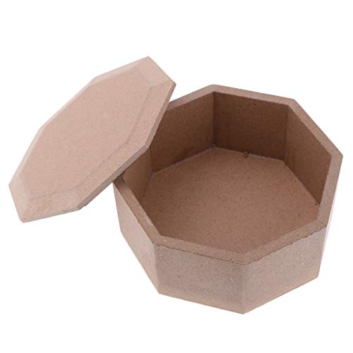 Mini Unfinished Wood Blank Wooden Jewelry Box Base for Painting Wood Crafts -
