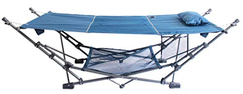 ZENITHEN LIMITED Guidesman Portable Blue Folding Hammock for Camping and Leisure