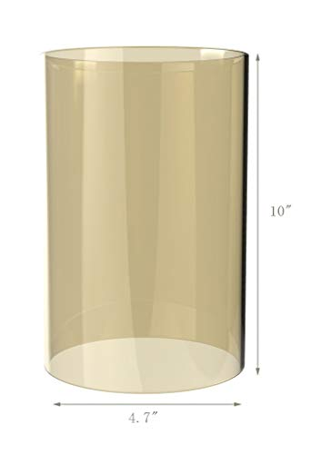 Amayan Borosilicate Glass Lampshade Pillar Candle Holder Open End-Diameter is 4.7'',Height 10'' Piece for Coffee Tables OR Side Tables- Glasses Holder - (Multiple Specifications) by Amayan (Image #3)